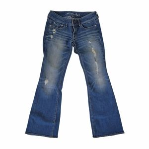 American Eagle Distressed Artist Flare Jeans